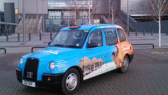 Taxi Advertising in Glasgow with Huge Media.