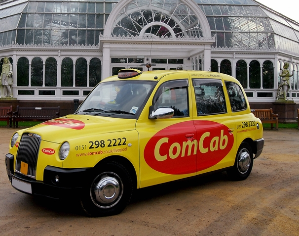 Full Livery Taxi Advertising delivered by hugemedia.co.uk